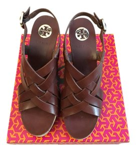 Tory Burch Sienna - Brown Wedges