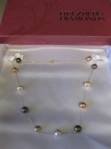 Helzberg Diamonds Chocolate Freshwater Pearl Necklace