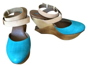 Schuler & Sons' Wedge Platform Turqoise Turquoise Wedges