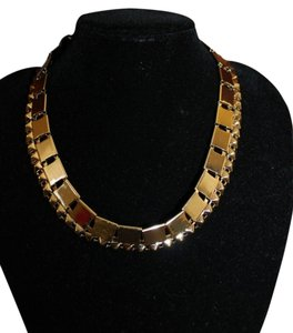 Divided by H&M Divided By H&M Nwt Trendy Conscious Gunmetal Studded Herringbone Chain Choker