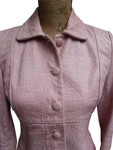 THE WRIGHTS Nappa Croc Embosseed Designer Top Soft Pink