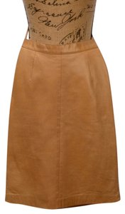 Loewe Nappa Leather Designer Skirt Tan