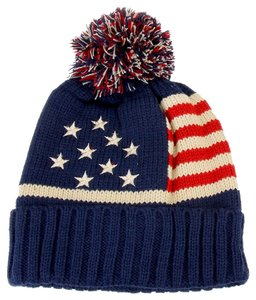 Other American Flag Knitted Pom Pom Beanie Winter Hat