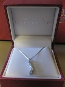 Helzberg Diamonds Sterling Silver Diamond Pendant Necklace