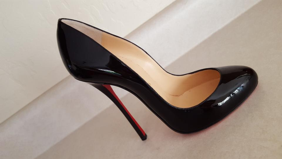 d8b8e3a6bcbd Christian Louboutin Patent Patent Leather Stiletto Round Toe Red Sole Sexy  39 9 New Black Pumps. 12345678910