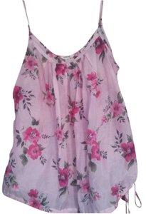 I Love H81 Floral Strapless Sheer Top pink