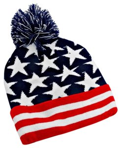 86251245e83 Other American Flag Knitted Pom Pom Beanie Winter Hat