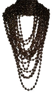 Erickson Beamon Vintage Erickson Beacon Necklace With 9 Strands of Faceted Antique Gold Beads