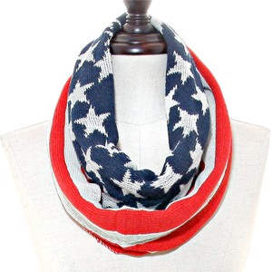 American Flag Infinity Knit Winter Scarf