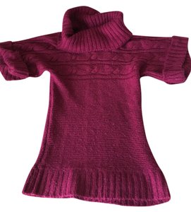Planet Gold Pink Pink Short Sleeves Cowl Neck Sweater