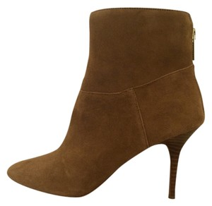 Audrey Brooke Stiletto Suede Leather Tan Boots
