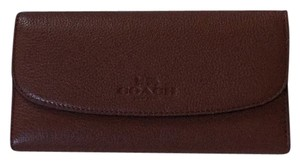 Coach Pebbled Leather Checkbook Wallet