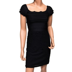 Max Studio short dress Black Bodycon Stretchy Square Neck on Tradesy