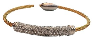Other Gold Cable with CZ bangle