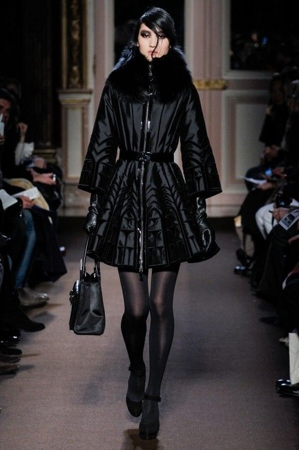 Andrew Gn Fox Jacket Bergdorf Goodman Velvet Embroidered Fit And Flare S 36 France Paris Winter Romantic Runway 4 Small Fur Coat Image 1