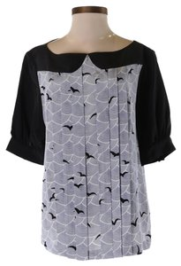 Kate Spade Nwt Bird Silk Top
