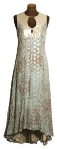 Diane von Furstenberg Dvf Silk Metallic Maxi Dress