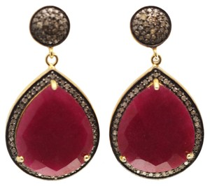 Other Ruby and Diamond Drop Earrings