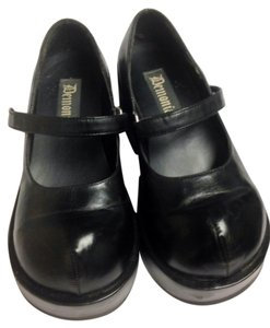 Demonia Creepers Mary Janes BLACK Platforms