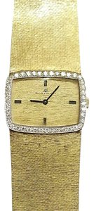 Baume & Mercier Baume & Mercier Vintage 14 Karat Yellow Gold Watch With Diamonds