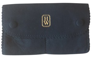 Harry Winston Jewelry Pouch. Two compartments with snap closures