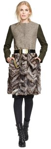 Tory Burch Fur Wool Jacket Fur Fur Coat