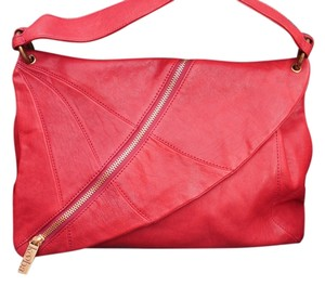 Kooba Leather Zipper Design Shoulder Bag