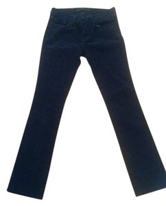 J Brand Cigarette Leg Mid Rise Corduroy Cord Stretchy Straight Pants Black Forest