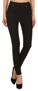 Mid Waist Fitted Skinny Jeans