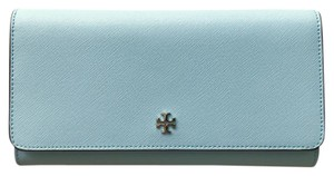 Tory Burch New Tory Burch Robinson Envelope Wallet in Riviera Blue