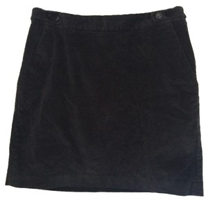 Banana Republic Corduroy Mini Skirt Charcoal