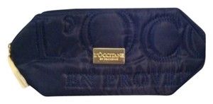 L'Occitane Blue Quilted Cosmetic Bag