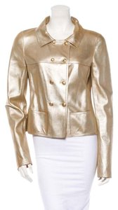 Chanel Leather gold Leather Jacket