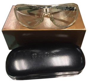 Gucci Gucci GG 1566/S Silver Metal & Plastic Aviator Sunglasses MADE IN ITALY