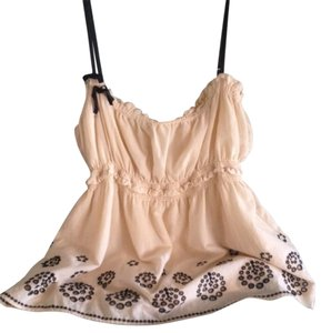 Juicy Couture Top Ivory Cream With Black