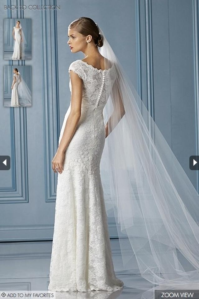 Wtoo Ivory Parisian Lace Hannah Gown Style 10499 Traditional Wedding ...