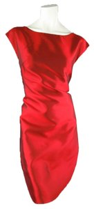 Dolce&Gabbana Taffeta Exposed Zipper Sleeveless Holiday Dress