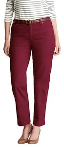 Style & Co Tummy-control Ankle Leg Slim Fit Skinny Pants Plum