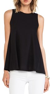Demylee Cotton Knit Fabric Top Black