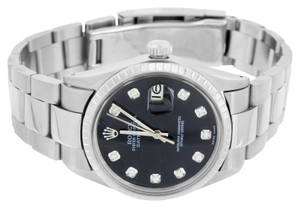 Rolex Date Just I Rolex Mens Watch 36 MM Stainless Steel Diamond Dial Oyster Band