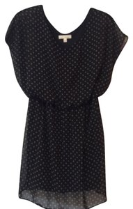 Lush short dress Black Polka Dot Cream Nordstroms on Tradesy