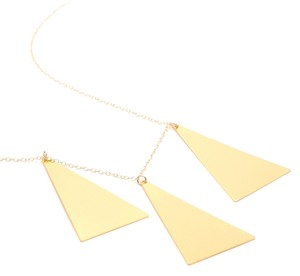 Gorjana Reduced - Vintage Triple Triangle Long Necklace