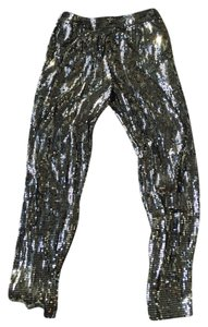 Alice + Olivia Holiday Skinny Pants Metallic - Gold