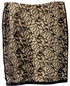 Ann Taylor Skirt tan/black