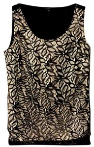 Ann Taylor Top tan/black