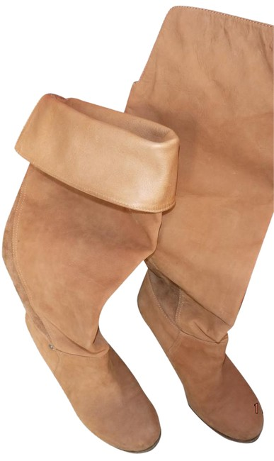 Item - Tan - Like New Leather Boots/Booties Size US 7.5 Regular (M, B)