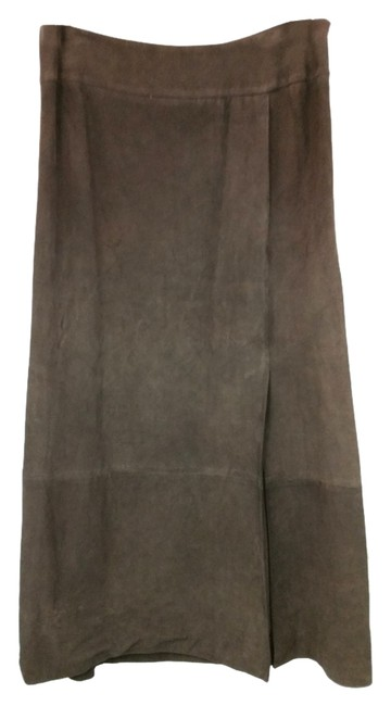 Item - Brown Dark Suede Leather Skirt Size 12 (L, 32, 33)