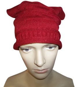 BRAND NEW Acrylic Knit Hat, Cranberry.Winter warmth for your head!