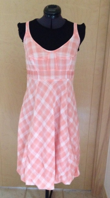 Other short dress Tangerine and White Plaid on Tradesy