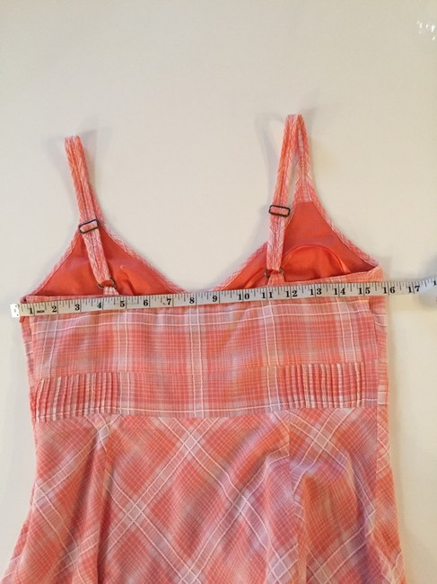 Other short dress Tangerine and White Plaid Sex The City Sun on Tradesy